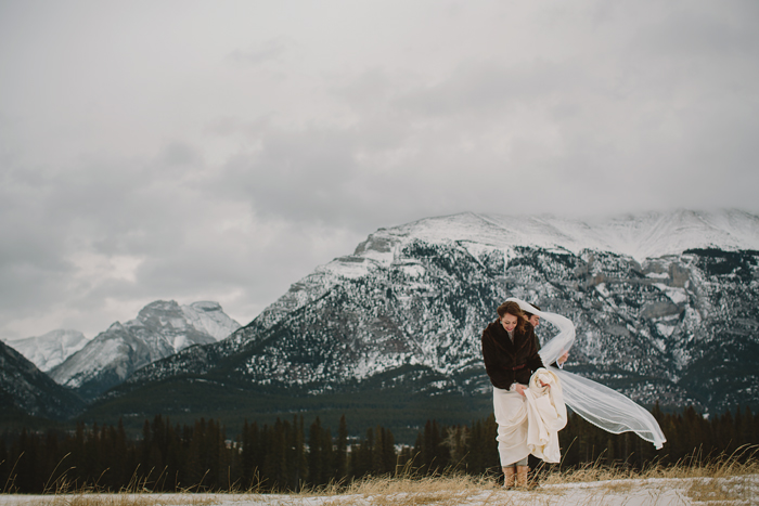 canmore wedding photographer, mountians, banff, alberta, winter, ©Gabe McClintock Photography | www.gabemcclintock.com